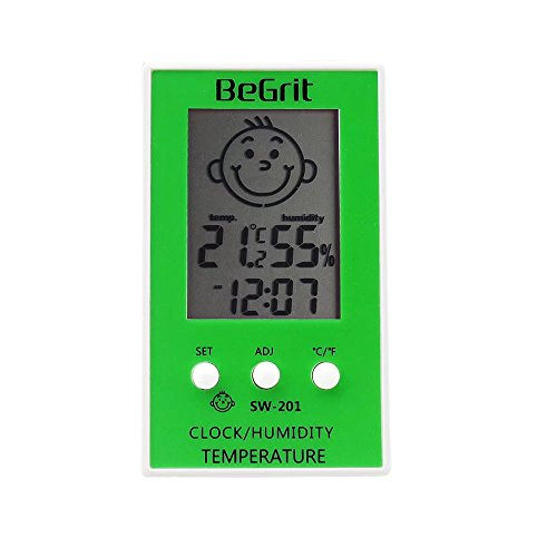 Price comparison product image BeGrit Digital Hygrometer Thermometer Indoor Humidity Monitor LCD Display Temperature Gauge Meter for Baby Room