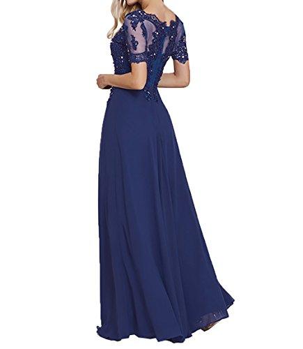 Abschlussballkleider Brautmutterkleider Damen fesltichkleider Abendkleider Charmant Kurzarm Braun Lang Spitze Cq4xTxwWtf