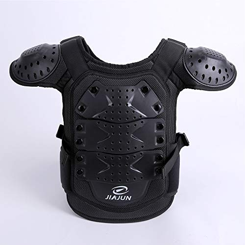 Children's Sports Protective Vest high Strength PE Sports Protective Equipment (Black, M) by Shindn (Image #3)