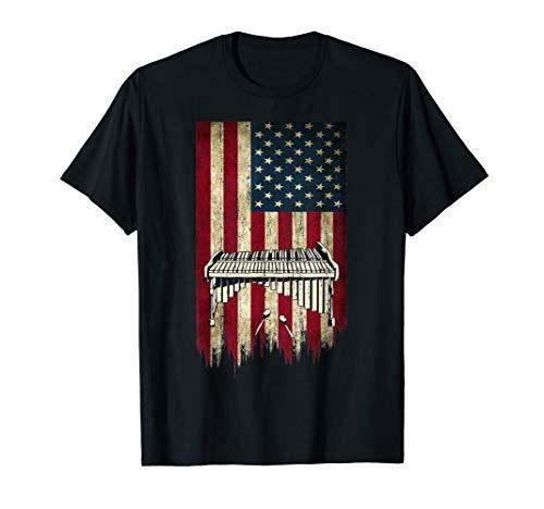USA Marimba Vintage American Flag T shirt