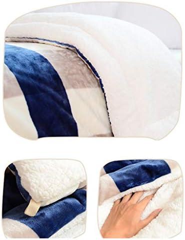 LIQIN Couvertures Flanelle Couverture Épaississement Couette Chaude Double Couche Hiver Double Couche Corail Couverture Trois Couches Plush Couverture (Size : 150 * 200cm)