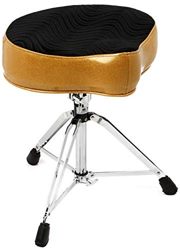 (Pork Pie Percussion Big Boy Drum Throne - Gold with Black Swirl)