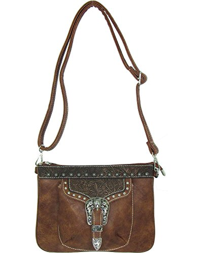 Savana Bag - Savana Women's Faux Leather Distressed Crossbody Bag Tan One Size