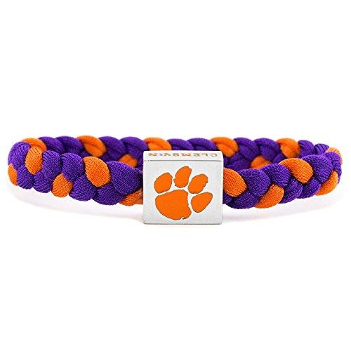 Glass-U NCAA Game Day Nylon Woven Bracelet - Clemson Tigers -