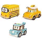 Robocar Poli Diecasting Set : Cab, School-B, Spooky (Non-transformer)