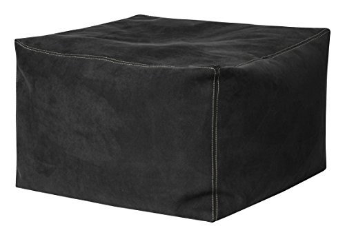 Gouchee Home S3454007 Loft Bob Collection Contemporary Faux Suede Fabric Upholstered Square Pouf/Ottoman, Charcoal (Storage Ottoman Furniture Bobs)