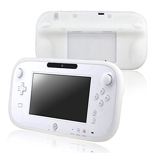 White Silicone Rubber Gel Soft Skin Case Cover for Nintendo Wii U Gamepad Remote Controller