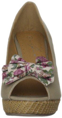 Unbekannt Flv217 - Zapatos de vestir para mujer Beige