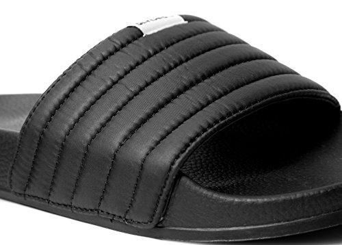 Men's Slider West Black Sandals Slydes tqEvYq