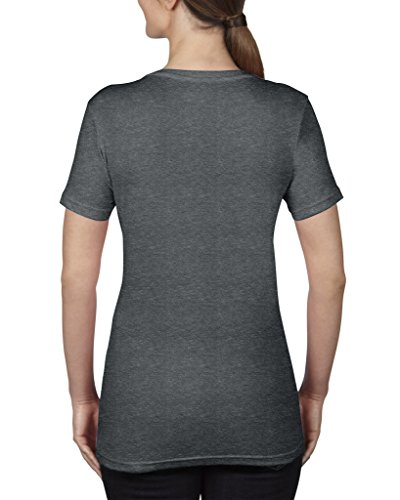 Avil- Camiseta fina de manga corta en forma de V Heather Dark Grey