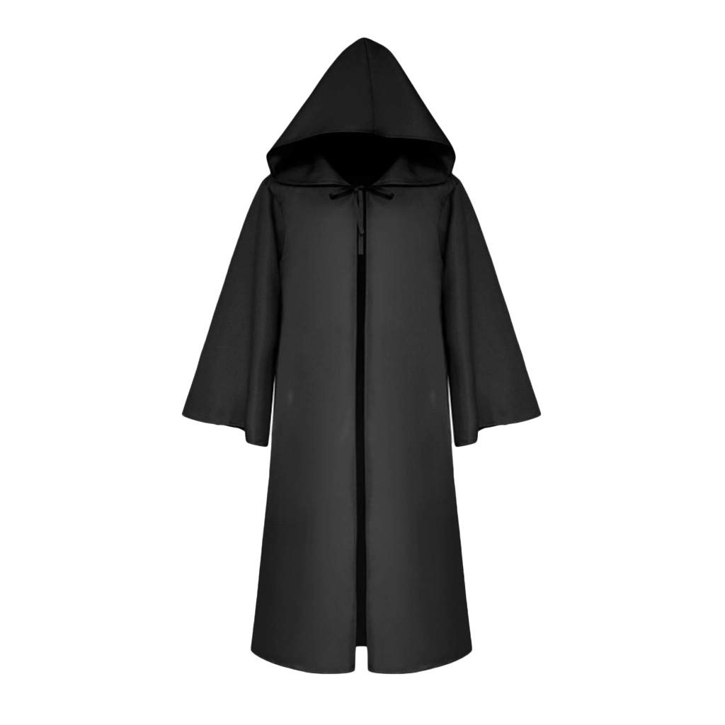 YKARITIANNA Hot Men's Vintage Half Sleeve Solid Hooded Bandage Cloak Cosplay Outwear Coat 2019 Summer Hot Sale