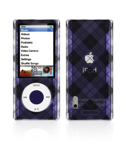 - Griffin iClear Sketch Polycarbonate Case for iPod nano 5G (Tartan Black)