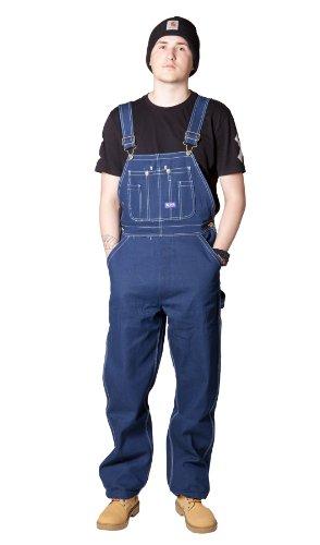 Big Smith Men's Bib Overalls - Indigo Work Overalls for Men Blue Jeans (Big Smith Bib Overalls)