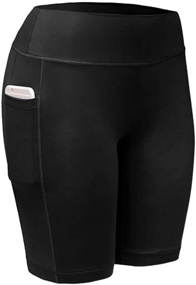 Yfnfxl High Waist Out Yoga Pants with Side Pockets Tummy Control Workout Running 4 Way Stretch Yoga Sports Leggings