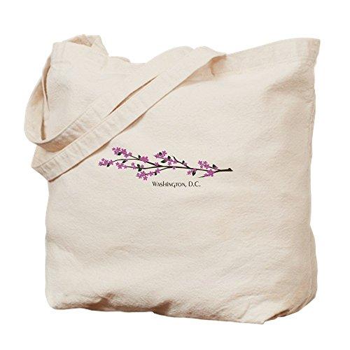 IrmaPetty Washington, DC Cherry Blossom - Natural Canvas Tote Bag, Cloth Shopping Bag