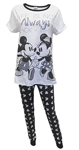 Disney Minnie Mouse Black & White signore Pigiama