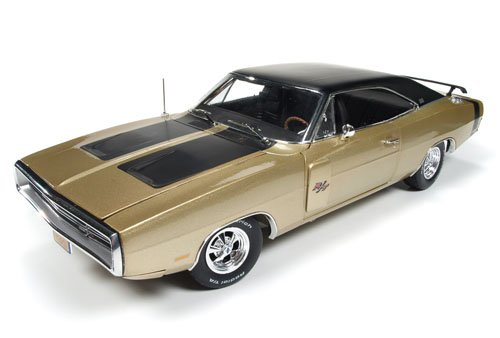1970 Dodge Charger R/T 50th Anniversary FY4 Light Gold Limited Edition to 1002pc 1/18 by Autoworld AMM1077