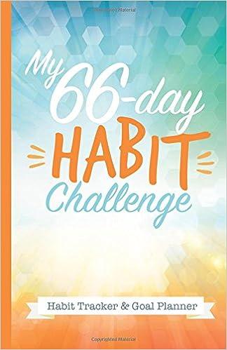 amazon com my 66 day challenge habit tracker goal planner a
