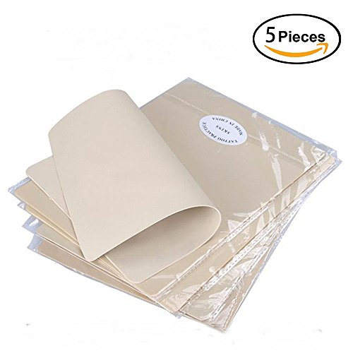 "Price comparison product image Tattoo Skin Practice, BoChang 5 Sheets 8x6"" Double Sides Cheap Tattoo Skin Microblading Practice Skin for Tattoo Supplies, Tattoo Kit, Tattoo Ink Including Beginners and Experienced Artists"