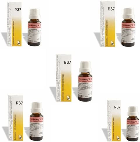 5 Lots X Dr.Reckeweg R 37 Drops - 22Ml Homeopathic Medicine