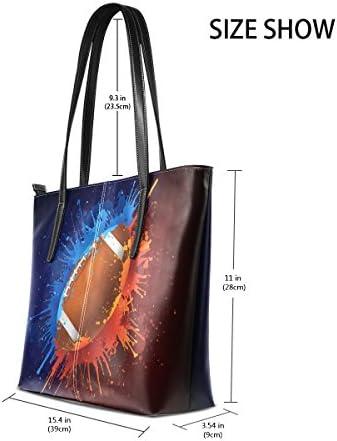 COOSUN Calcio PU Leather Shoulder bag borsa e borse Tote Bag per le donne medio Multicolore # 002