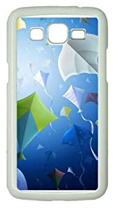 Kites Background PC Case Cover for Samsung Grand 2 and Samsung Grand 7106 White