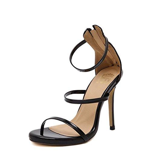 La Talons Peeps Dames Main Haute Ultime Noir Liangxie De À Chaussures Nuptiale Cristal Xiao Couture Qianxiaoqi Mariage Sandales 4UqCy