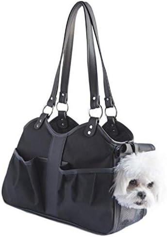 Petote Metro Classic Dog Carrier, Black Sable, Petite