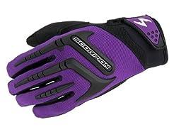ScorpionExo Women\'s Skrub Gloves(Purple, Medium), 1 Pack
