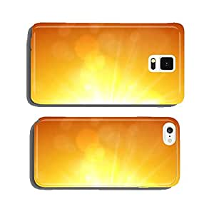 Summer view blurry orange sky background. cell phone cover case Samsung S5
