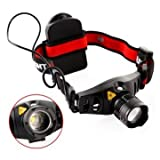Headlamp For Women - Hunting Headlamp; Waterproof Headlamp - Q5 Led Headlamp Zoom Zoomable Headlight Headlamp Torch ()