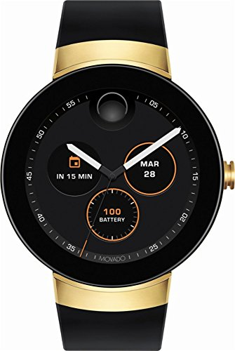 Movado - Connect Smartwatch 46.5mm Stainless Steel - Gold stainless (Movado Black Clock)
