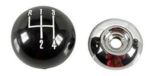 Black 4 Speed Shift Knob for Hurst and Other 3/8-16 Thread Shifters 4 Speed Shifter Knob