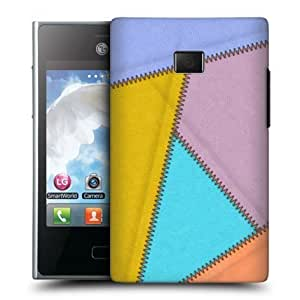 Cerhinu Head Case Shake Leather Patched Up Design Back Case Cover For Lg Optimus L3 E400