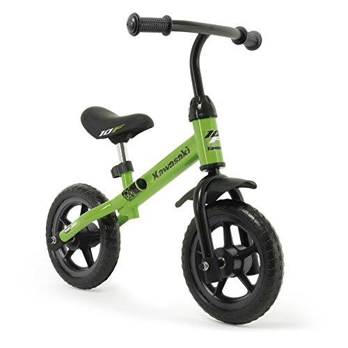 🥇 INJUSA Bicicleta Kawasaki Balance sin Pedales para Niños de 3 Años de Fácil Manejo y Ruedas de Goma Eva