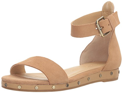Chinese Laundry Women's Grady Flat Sandal, Camel Suede,  9 M US ()