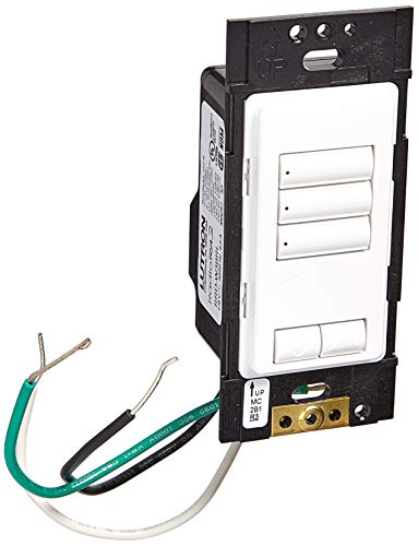 Lutron RRD-W3BRL-WH Standard Switches White