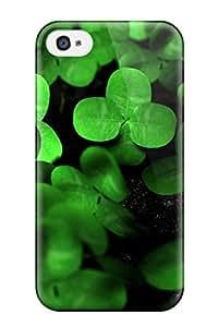 New Premium Flip Case Cover Clover Skin Case For Iphone 4/4s