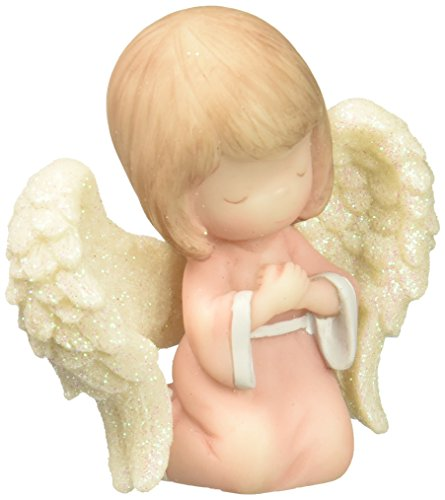 Precious Moments Hands on Heart Angel Mini Figurine Resin 163505 ()