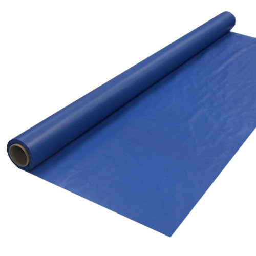 Navy Roll Runner - Party Essentials Heavy Duty Plastic Banquet Table Roll Available in 27 Colors, 40