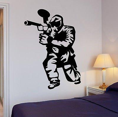 Wall Decal Paintball Gamer Boys Room Entertainment Vinyl Stickers Art ()