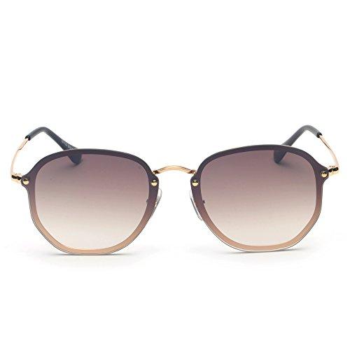 De Para Marrón Para De Sol Mujer TIANLIANG04 Calidad Metálico Gafas Sol Alta Gafas De De Unisex El Uq0BtAX