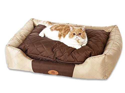 final-sale-pls-pet-royal-all-seasons-bolster-pet-bed-medium-22wx30l-waterproof-oxford-fabric-modern-