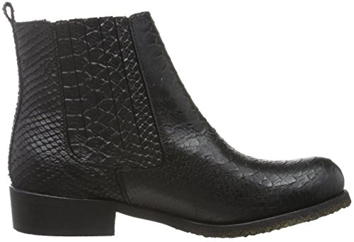 cashott A16521, Zapatillas de Estar por Casa para Mujer Negro - Schwarz (Black Python 2000)