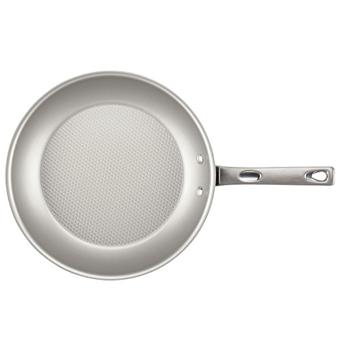 Ayesha Curry Home Collection Porcelain Enamel Nonstick Skillet, 12.5-Inch, Twilight Teal