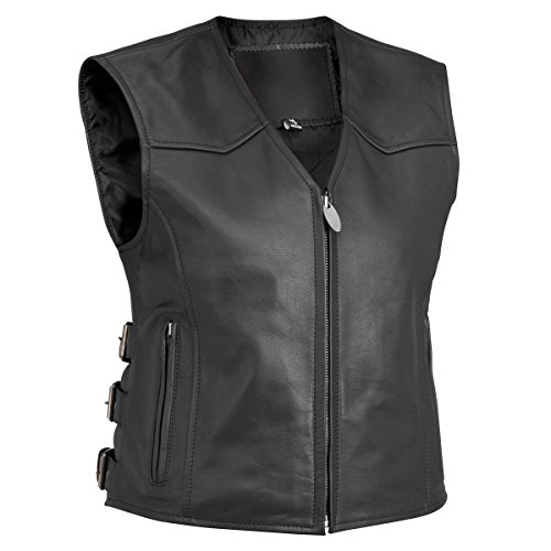Tr Leather (River Road Women's Plains Leather Vest - 3X - 13/V/3653)