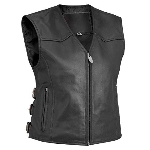River Road Women's Plains Leather Vest - 3X - 13/V/3653 TR
