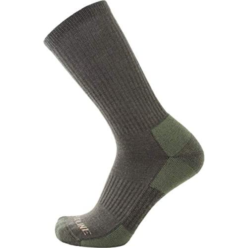 CloudLine Merino Wool Tactical Military Hiking Socks - for Men & Women - Medium Green