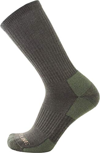 (CloudLine Merino Wool Tactical Military Hiking Socks - for Men & Women - Large Green)