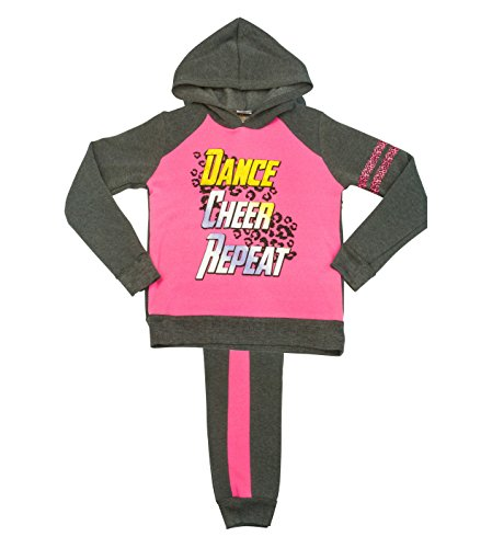 Angel Face Girls & Toddlers Fleece Dance Print Clothing Set With Pants & Hoodie (Clothing Kids Angel Toddler)